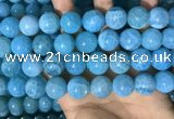 CAA5147 15.5 inches 16mm round dragon veins agate beads wholesale