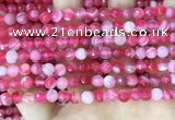 CAA5192 15.5 inches 6mm faceted round banded agate beads