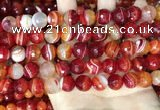 CAA5208 15.5 inches 10mm faceted round banded agate beads