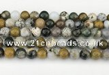 CAA5332 15.5 inches 10mm round ocean agate beads wholesale
