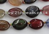 CAA577 15.5 inches 12*16mm faceted oval dragon veins agate beads