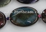 CAA581 15.5 inches 25*35mm faceted oval dragon veins agate beads