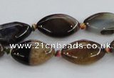 CAA583 15.5 inches 12*19mm marquise dragon veins agate beads