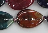 CAA587 15.5 inches 22*30mm faceted teardrop dragon veins agate beads