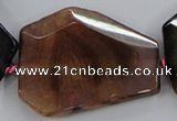 CAA623 15.5 inches 38*48mm freeform dragon veins agate beads
