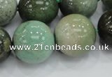 CAB02 15.5 inches 20mm round green grass agate gemstone beads