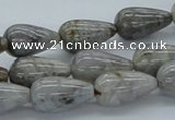 CAB144 15.5 inches 10*18mm teardrop bamboo leaf agate beads