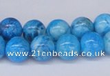 CAB222 15.5 inches 10mm round blue crazy lace agate beads