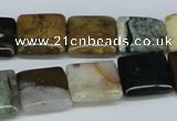 CAB375 15.5 inches 14*14mm square ocean agate gemstone beads
