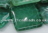 CAB60 15.5 inches 30*30mm square peafowl agate gemstone beads