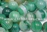 CAB715 15.5 inches 8mm round green agate gemstone beads wholesale