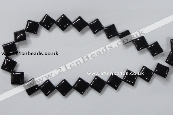 CAB767 15.5 inches 14*14mm diamond black agate gemstone beads