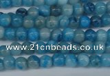 CAB998 15.5 inches 4mm round blue crazy lace agate beads