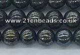 CAE121 15.5 inches 6mm round AB-color astrophyllite beads wholesale