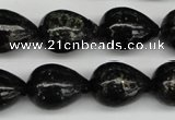 CAE23 15.5 inches 15*20mm teardrop astrophyllite beads wholesale