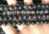 CAE306 15.5 inches 8mm round astrophyllite gemstone beads