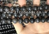 CAE308 15.5 inches 12mm round astrophyllite gemstone beads