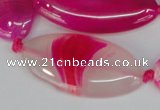 CAG1182 15.5 inches 19*38mm marquise line agate gemstone beads