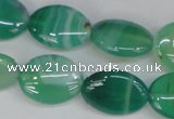 CAG1265 15.5 inches 13*18mm oval line agate gemstone beads