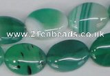 CAG1266 15.5 inches 15*20mm oval line agate gemstone beads