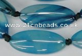 CAG1301 15.5 inches 15*35mm marquise line agate gemstone beads