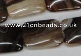CAG1325 15.5 inches 18*25mm rectangle line agate gemstone beads
