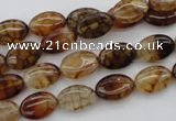 CAG1462 15.5 inches 8*12mm oval dragon veins agate beads