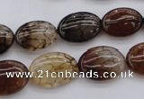 CAG1465 15.5 inches 13*18mm oval dragon veins agate beads