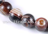 CAG148 13mm smooth round madagascar agate stone beads Wholesale