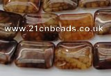 CAG1481 15.5 inches 13*18mm rectangle dragon veins agate beads