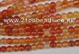 CAG1644 15.5 inches 4mm round red agate gemstone beads