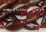CAG226 15.5 inches 12*23mm marquise red agate gemstone beads