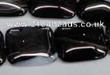 CAG2957 15.5 inches 20*25mm rectangle black line agate beads