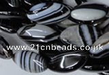 CAG3016 15.5 inches 10*20mm marquise black line agate beads