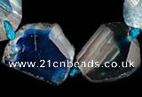 CAG331 nugget shape  rough agate gemstone beads Wholesale