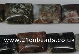 CAG3545 15.5 inches 15*20mm rectangle ocean agate gemstone beads
