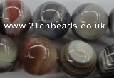 CAG3688 15.5 inches 20mm round botswana agate beads wholesale