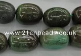 CAG3927 15.5 inches 14*19mm nuggets green grass agate beads