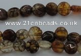 CAG4060 15.5 inches 6mm flat round dragon veins agate beads
