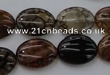 CAG4072 15.5 inches 15*20mm oval dragon veins agate beads