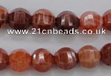 CAG4170 15.5 inches 12mm pumpkin natural fire agate beads