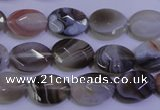 CAG4462 15.5 inches 10*14mm faceted oval botswana agate beads