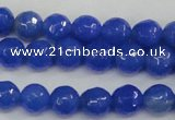 CAG4488 15.5 inches 6mm faceted round agate beads wholesale