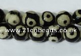 CAG4680 15.5 inches 10mm faceted round tibetan agate beads wholesale