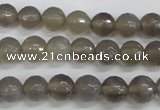 CAG4826 15 inches 8mm faceted round grey agate beads wholesale
