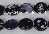 CAG4892 15 inches 15mm faceted coin fire crackle agate beads