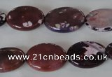 CAG4896 15 inches 13*18mm faceted oval fire crackle agate beads