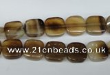 CAG4973 15.5 inches 10*10mm square agate gemstone beads wholesale