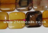 CAG4976 15.5 inches 20*20mm square agate gemstone beads wholesale
