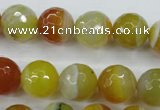 CAG5104 15.5 inches 12mm faceted round line agate beads wholesale